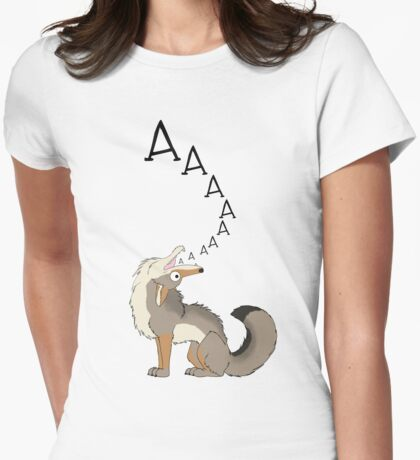 Howling Coyote - AAAAAA! Womens Fitted T-Shirt