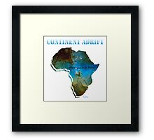 Continent Adrift Framed Print