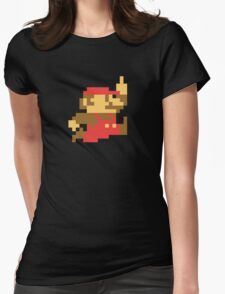 Rude Mario Womens Fitted T-Shirt