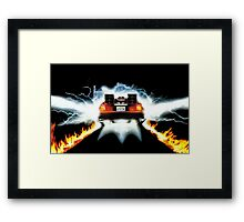 BTF - Delorean Framed Print