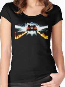 BTF - Delorean Women's Fitted Scoop T-Shirt