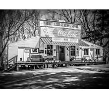 Rabbit Hash Store-Front View B&W Photographic Print