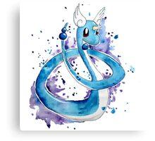 Pokemon Watercolor - Dragonair #148 Canvas Print
