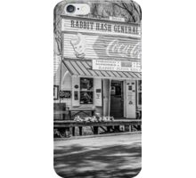 Rabbit Hash Store-Front View B&W iPhone Case/Skin