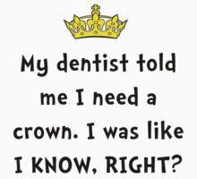 Dentist Crown One Piece - Short Sleeve