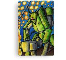 Starry Robot Canvas Print