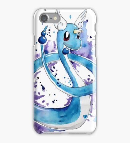 Pokemon Watercolor - Dragonair #148 iPhone Case/Skin
