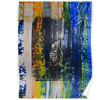 Spouse in the Forest - Original Wall Modern Abstract Art Painting Poster