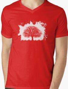 Contrast Mens V-Neck T-Shirt