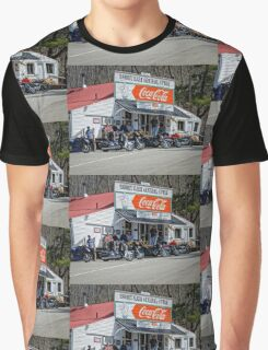 Rabbit Hash Store-Front View Bikers Graphic T-Shirt