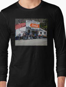 Rabbit Hash Store-Front View Bikers Long Sleeve T-Shirt