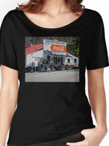 Rabbit Hash Store-Front View Bikers Women's Relaxed Fit T-Shirt