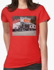 Rabbit Hash Store-Front View Bikers Womens Fitted T-Shirt