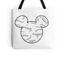 Mickey Filigree - Black with white background Tote Bag