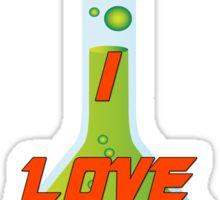I Love Chemistry Sticker