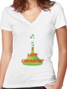 I Love Chemistry Women's Fitted V-Neck T-Shirt