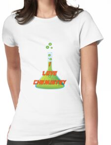 I Love Chemistry Womens Fitted T-Shirt