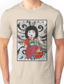 Ichimatsu ningyo, maneki neko and daruma doll  Unisex T-Shirt