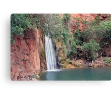 Waterfall - Oil Painted Canvas Print