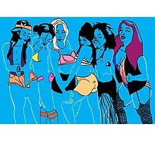Blue Girl Group Photographic Print