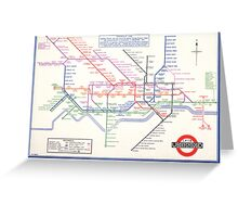 LONDON UNDERGROUND MAP 1933 HARRY BECK Greeting Card