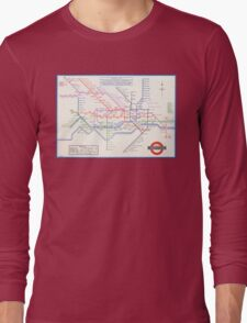 LONDON UNDERGROUND MAP 1933 HARRY BECK Long Sleeve T-Shirt