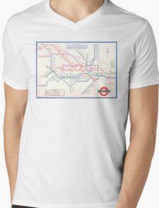 LONDON UNDERGROUND MAP 1933 HARRY BECK Mens V-Neck T-Shirt