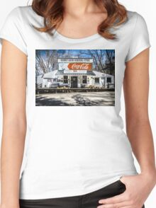 Rabbit Hash Store-Front View Women's Fitted Scoop T-Shirt