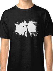Giraffe Mother and Child Classic T-Shirt