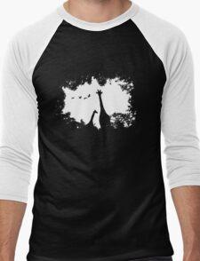 Giraffe Mother and Child Men's Baseball ¾ T-Shirt