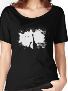 Giraffe Mother and Child Women's Relaxed Fit T-Shirt