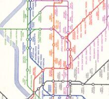 LONDON TUBE MAP 1933 HENRY BECK Sticker