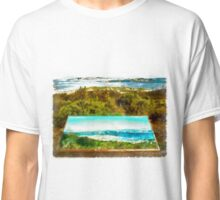 Sardinia: sea landscape and sign map Classic T-Shirt