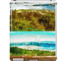 Sardinia: sea landscape and sign map iPad Case/Skin