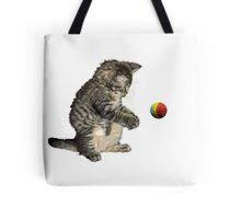 kitty cat playing ball Tote Bag