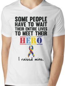 Autism Hero Mens V-Neck T-Shirt