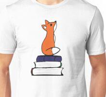 Fox on Books - color Unisex T-Shirt