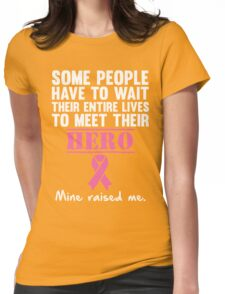 Breast Cancer Hero Womens Fitted T-Shirt