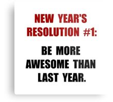 New Years Resolution Metal Print