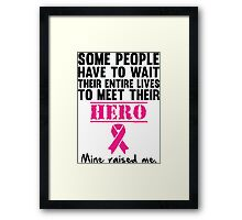 Breast Cancer Hero Framed Print