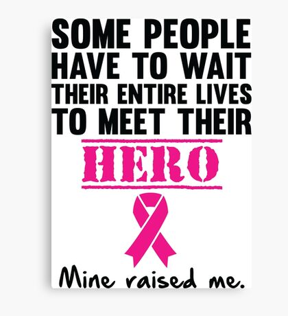 Breast Cancer Hero Canvas Print