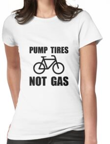 Pump Tires Womens Fitted T-Shirt