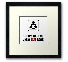Real Book Framed Print