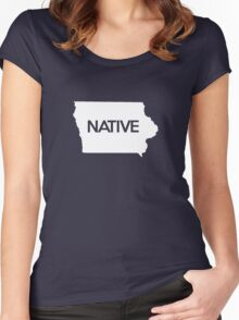 Iowa Native IA Women's Fitted Scoop T-Shirt
