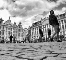 Sightseeing in Brussels Sticker