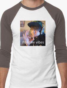 Leafy Positive vibes Men's Baseball ¾ T-Shirt