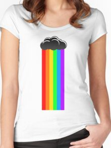 Rainbow Cloud Women's Fitted Scoop T-Shirt