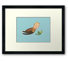Flying Birdman Wearing Slacks - Spirit Animal Framed Print