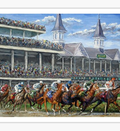 The Kentucky Derby - Churchill Downs Sticker