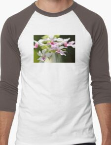 Delicate Orchids by Sharon Cummings Men's Baseball ¾ T-Shirt